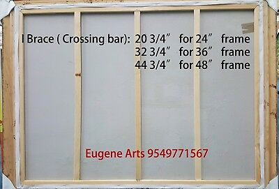 """Pair of  Canvas Stretcher Bars Strips 6 ,8,10,12,14,16,18,20,24,30,36,48,60,72"""" 10"""