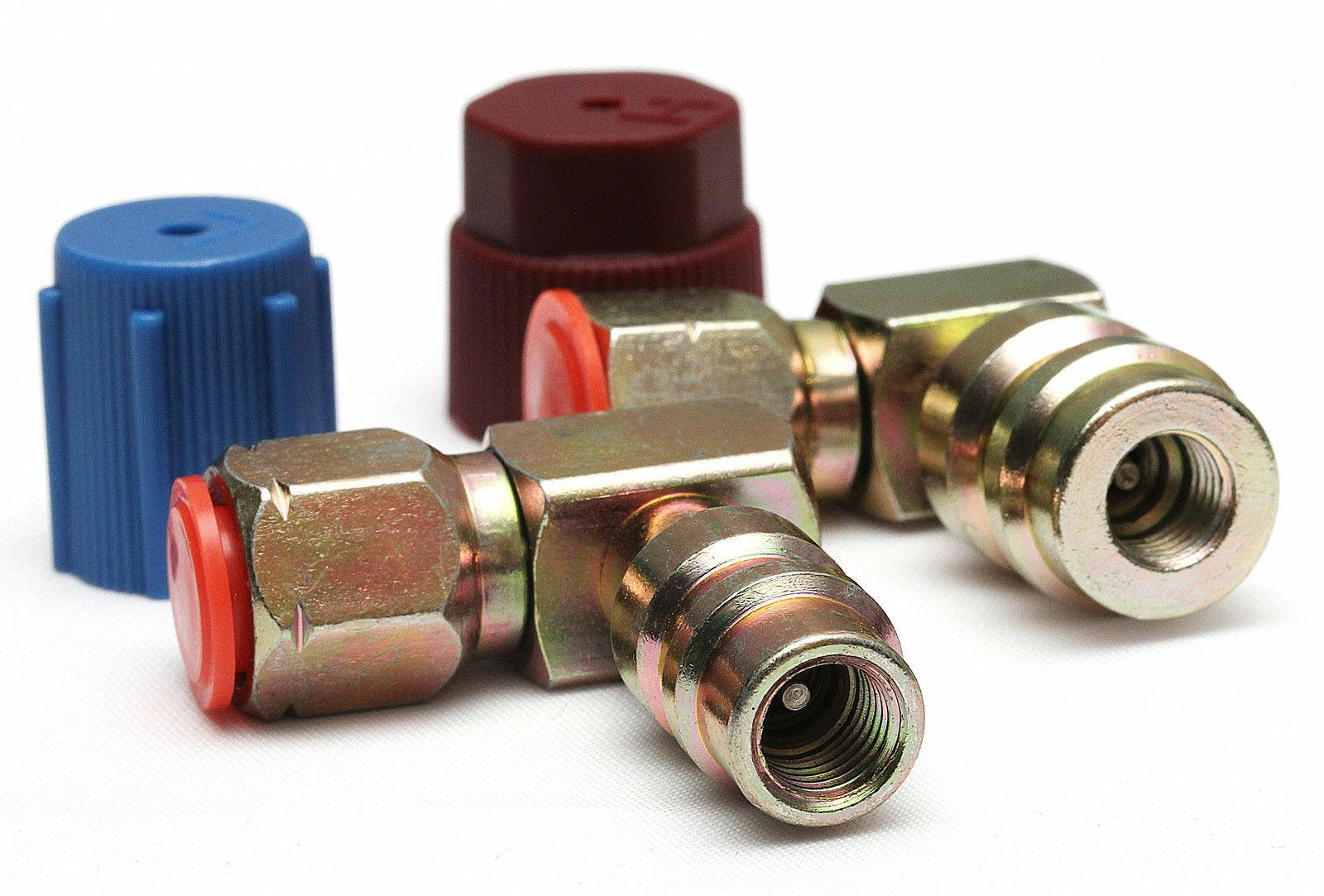 """Flaschenadapter Retrofit Adapter Hochdruck 1//4/"""" SAE Umrüstsatz R12 auf R134a"""