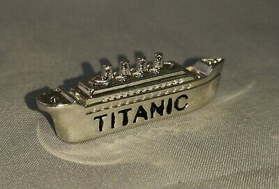 Titanic 3D Silver Ship on Gold Coin Sank 1912 Atlantic Ocean Photo Movie Toy USA 9