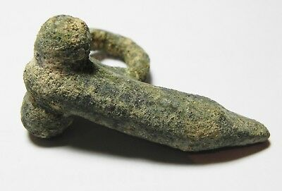 Zurqieh -Aa10006-  Roman. Large Bronze Amulet Of A Phallus. 200 A.d 5