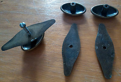 3 vintage Romanian metal key lock hold door locks cabinet furniture decoration 7