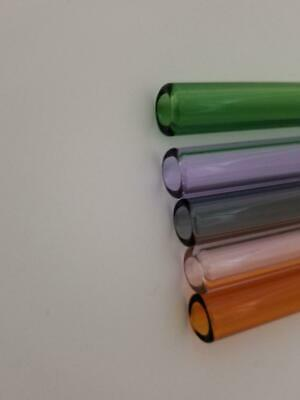 Borosilicate Glass Tubing Straws 12mm OD Purple Pink Black Colors Pyrex Tubes 8