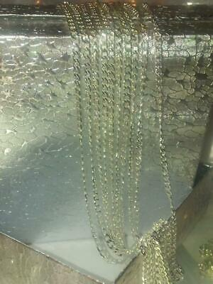 "Beautiful, Silver  2 mm Curb Chain Necklace & gift bag. 30"" long. 3"