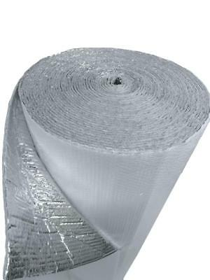 4ft x 25ft White Double Bubble Reflective Foil Insulation Thermal Barrier R8 3