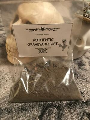 FRESH Authentic Old Cemetary Graveyard Dirt~Witchcraft Voodoo, Casting 3oz 2