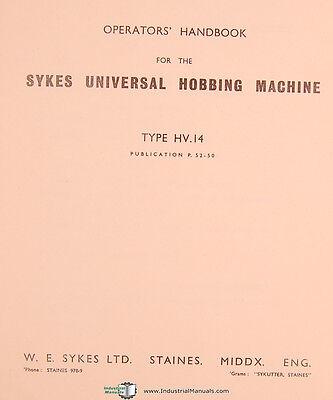 Gear Generator Installation Operations Manual Sykes Model 1600