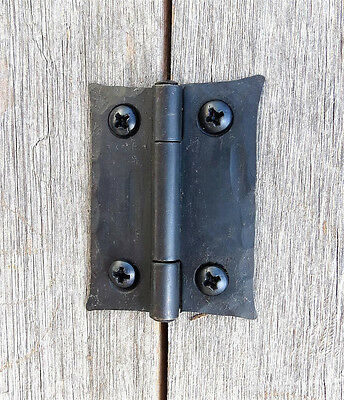 "2 Handmade 2"" Butt Door Wrought Iron Hinges Antique Cabinet Cupboard Box Decor 4"