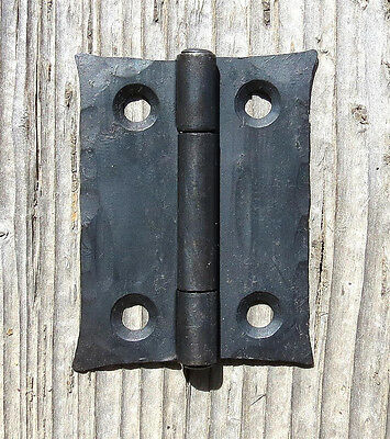 "2 Handmade 2"" Butt Door Wrought Iron Hinges Antique Cabinet Cupboard Box Decor 7"