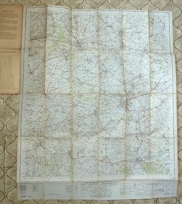 Ordnance Survey Map Swindon Sheet 157. Fully Revised 1949-56; Published 1958. 2