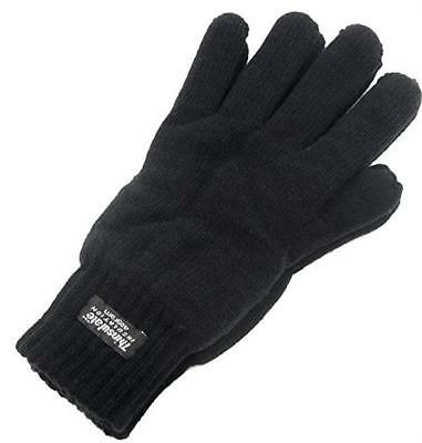 Thermal Knitted Acrylic Glove 3M Thinsulate Lined Black Knit Warm Winter Work 7