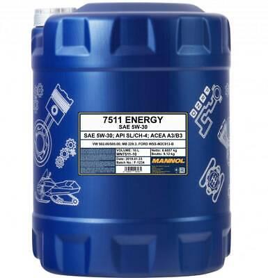 5W-30 Motoröl 10 Liter MANNOL Energy 5W30 VW 502.00 505.00 ACEA A3 B3 MB 229.3 2