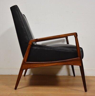 Swell Rosewood And Black Leather Lounge Chair Danish Mid Century Inzonedesignstudio Interior Chair Design Inzonedesignstudiocom