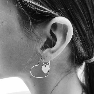 1 Pair Women Multi Style Circle Large Big Linked Hoop Dangle Long Earrings Studs 7