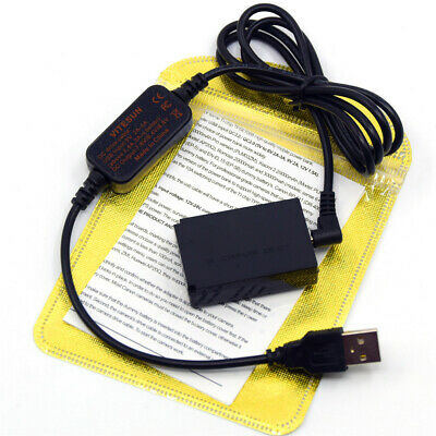 LP-E12 power charger cable ACK-E12+DR-E12 dummy battery for Canon EOS M M50 M10 4