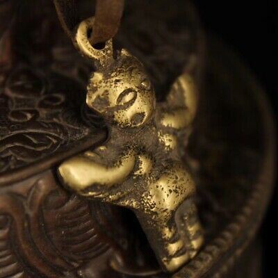 Nepal Recycling old Handmade Pure copper Dapeng bird protection Pendant 4