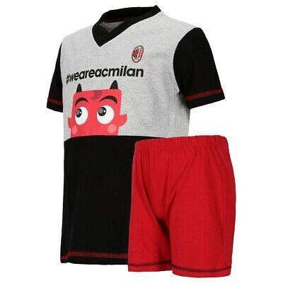 Pigiama Ragazzo AC Milan Corto Abbigliamento Estivo PS 30041