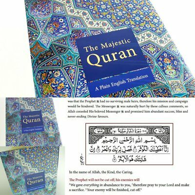 SPECIAL OFFER:The Majestic Quran Arabic Text with Plain English Translation (HB) 6