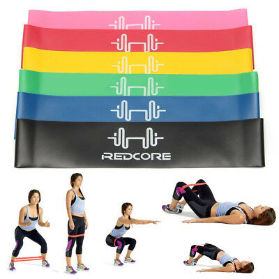6pcs Resistance Loop Bands Mini Band Exercise Crossfit Strength Fitness GYM 2