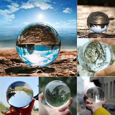 40-100mm Clear Glass Crystal Ball Healing Sphere Photography Photo Ball Gifts 2