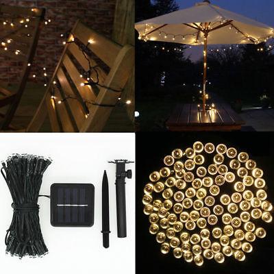 12M 100 LED Solar Power Fairy Light String Lamp Party Xmas Decor Outdoor RF 5