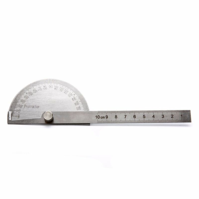 Steel degree Stainless Finder 180 Protractor Angle Arm Measuring Ruler Tool 6