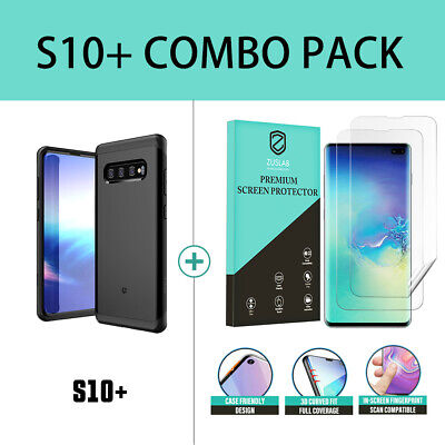 Samsung Galaxy S10 case S10 Plus Case ZUSLAB Hybrid Shield Shockproof Slim Cover 12