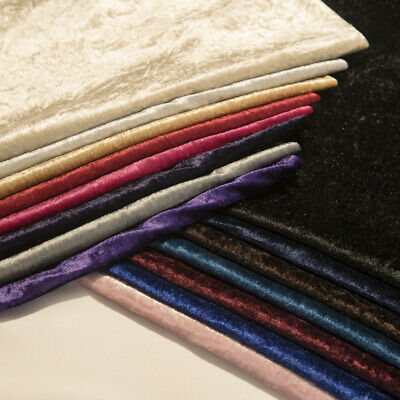 "Premium Crushed Velvet 1 Way Stretch Fabric 60"" Wide Dress Craft Wedding Cushion 2"