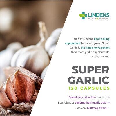 Super Garlic 6000mg odourless Capsules (365 pack) High Allicin potency [1196] 3