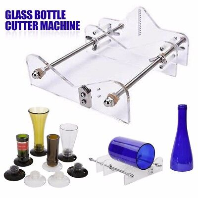 AU Glass Bottles Cutter Wine Beer Bottle Jar Machine DIY Handmade Cutting Tool E 3