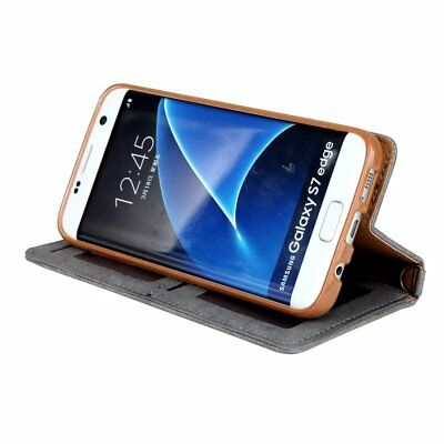 Luxury Card Slot Stand Flip Leather Wallet Case Cover For Samsung S7 Edge S8 + 7