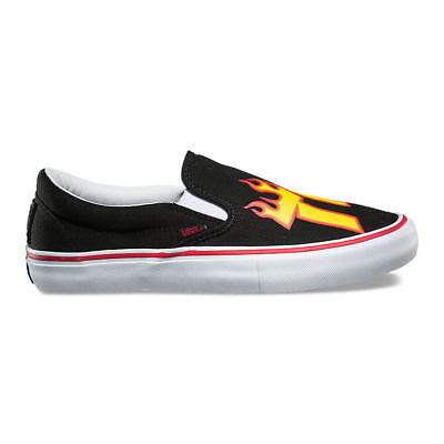 VANS THRASHER SLIP ON Pro Shoes NEW Black Slip Ons MENS SIZE