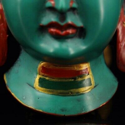 Chinese Tibetan temple collection painting Sakyamuni mask Home decoration 4