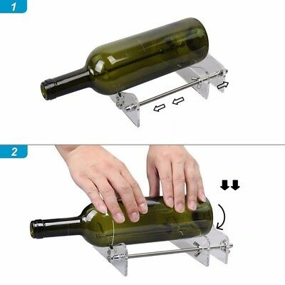 AU Glass Bottles Cutter Wine Beer Bottle Jar Machine DIY Handmade Cutting Tool E 8