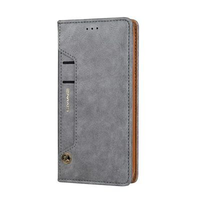 Luxury Card Slot Stand Flip Leather Wallet Case Cover For Samsung S7 Edge S8 + 3