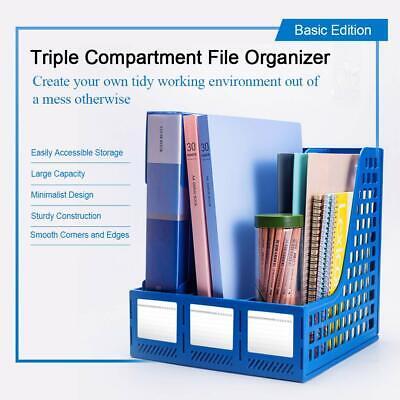 Stehordner Plastik Stehsammler 3 Fächer Sammelbox A4 bis C4 Schuber FD