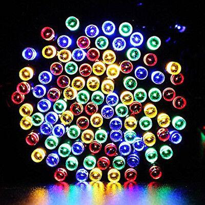 12M 100 LED Solar Power Fairy Light String Lamp Party Xmas Decor Outdoor RF 8