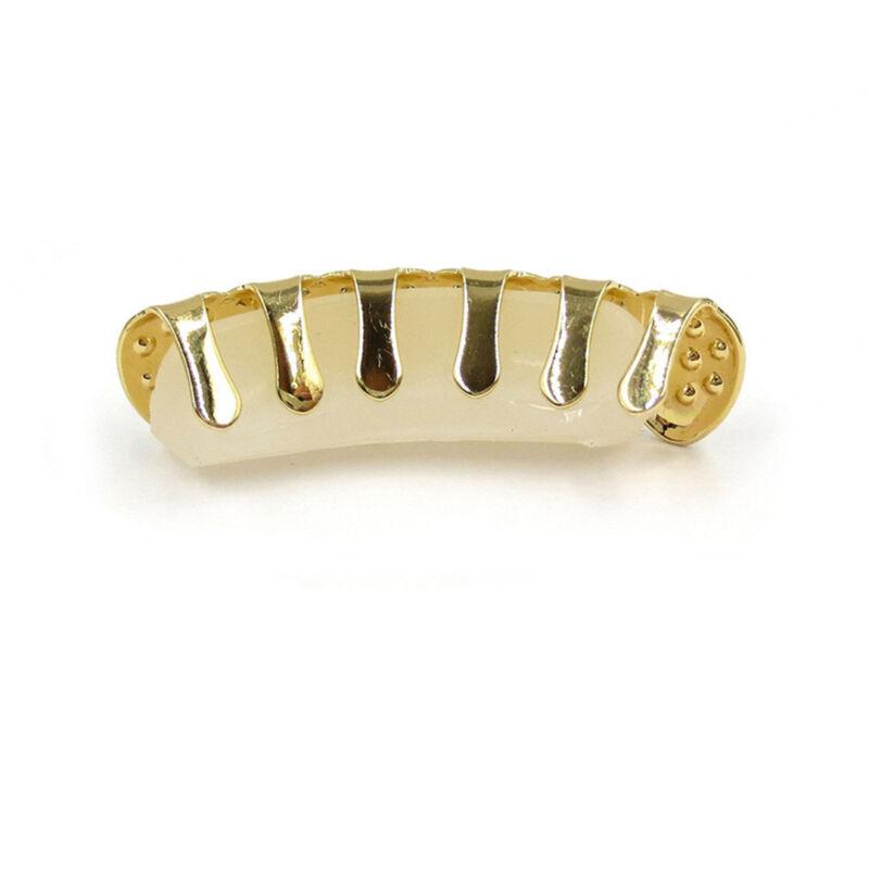 Gold Plated Rhinestone Diamond Tooth Grillz Teeth Cap Grill Hip Hop Party AU 3