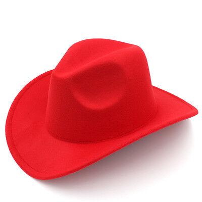 ... Kids Boys Girls Felt Cowboy Hat Wool Blend Children Western Cowgirl Cap  Size XS 7 d38b8159eba