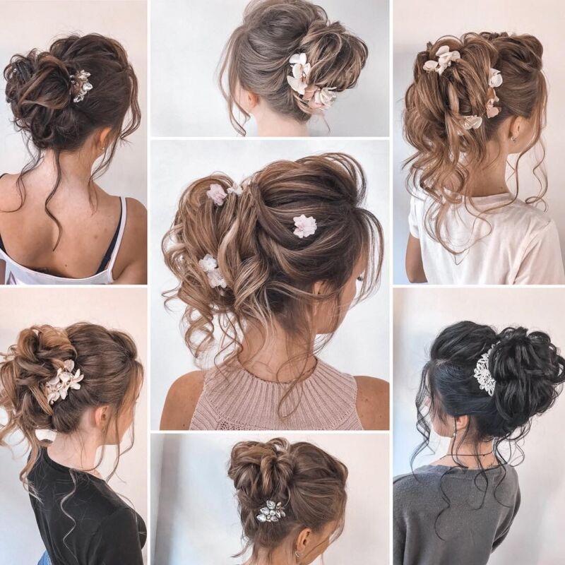 100% REAL Messy Bun Scrunchie Hair Extension Ponytail As Human Hair Piece Blonde 10