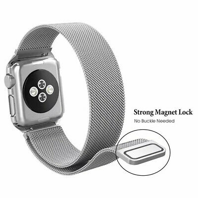 For Apple Watch Series 4 3 2 1 Magnetic Milanese Loop Band 38mm 42mm 40mm 44mm 12