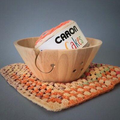 "LARGE Wooden Yarn Bowl 10"" x 4"" Knitting - Crochet"