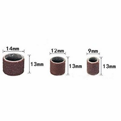 """132pcs 1/2"""" 3/8"""" Mixed Drum Mandrel& Sanding Drum Sleeves For Rotary Tool 3"""
