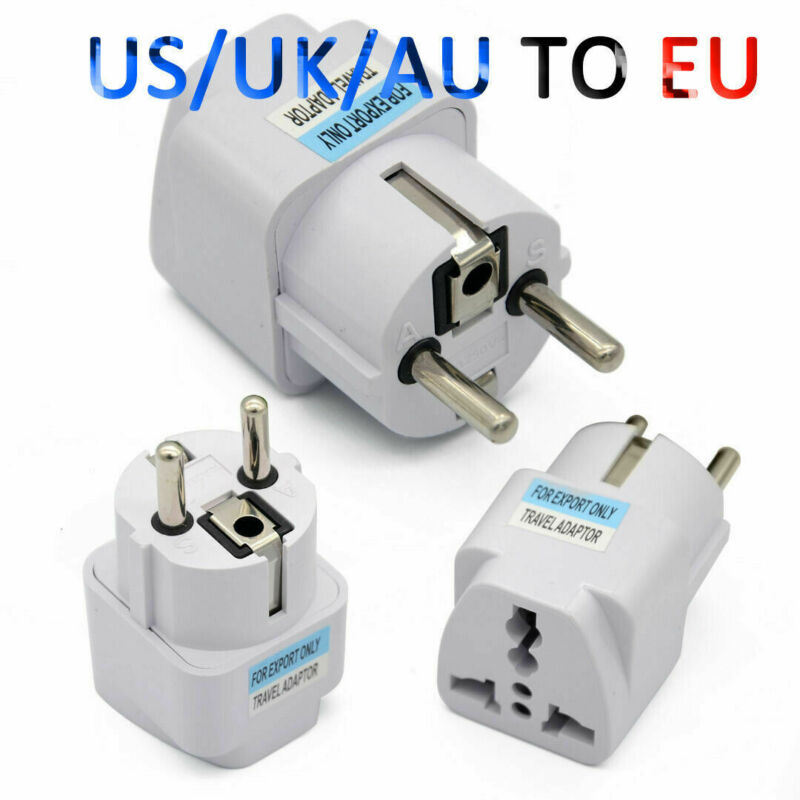Travel Portable Converter UK US AU to EU European Power Socket Plug Adapter 1PC 2
