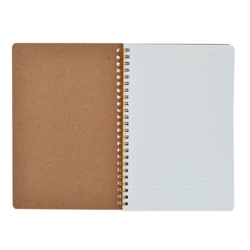 1 x A5 Ball Journal Notebook Hardcover Cardboard Dot Grid Spiral Diary Journal 2