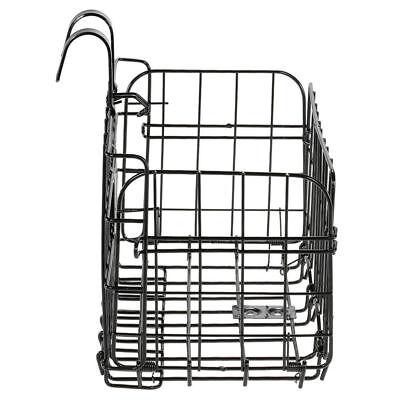 3X Folding Metal Wire Basket Front Bicycle Bike Storage Carrier Holder Rear Hang