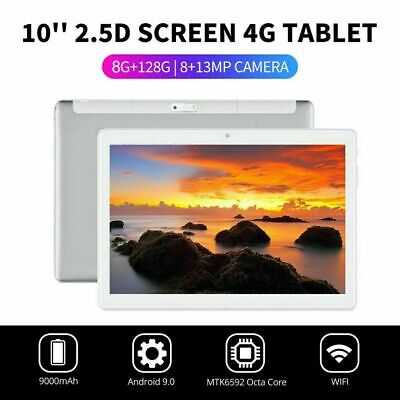 """10.1"""" WIFI/4G-LTE 8G+128G Tablet Android 9.0 HD PC bluetooth SIM GPS Dual Camera 7"""