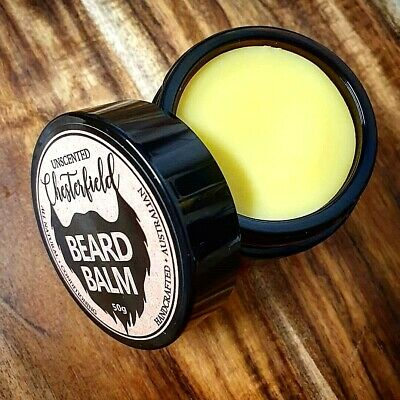 Chesterfield Beard Balm Unscented Natural Conditioner Growth Care Style Wax Hair 4