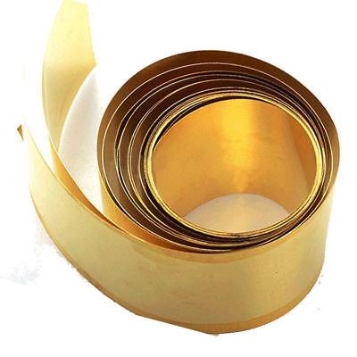 Brass Metal Thin Sheet Foil Plate Roll 0.02 x 100 x 500mm Metalworking Supplies