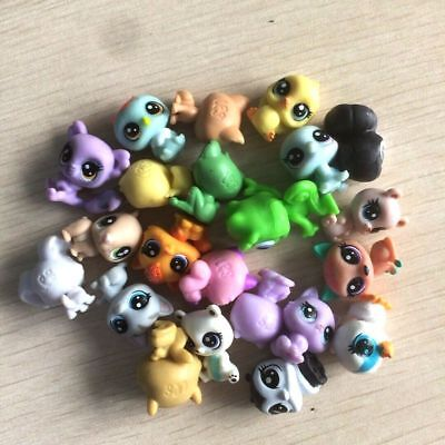 random 10Pcs Littlest Pet Shop panda bear dog cat pet super mini figure toy gift 4