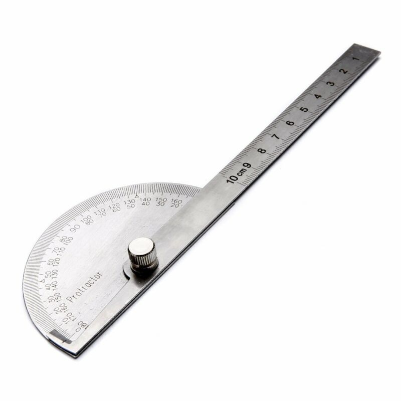 Stainless Steel 180 Degree Protractor Angle Finder Ruler Rotary Measuring Tool 2
